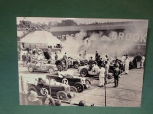 MGs & Rileys at Brooklands - Greetings Card